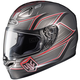 Grey/Red FG-17 Banshee MC-5 Helmet