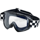 Checkers Moto Goggle - MG-CHK-WH-BK