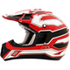 Black/White/Red FX-17 Works Helmet