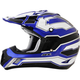 Blue/White/Black  FX-17 Works Helmet