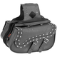Studded Medium Quantum Slant Saddlebags - 10-8990