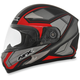 Matte Frost Gray/Red FX-90 Extol Frost Helmet