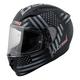 Black/Gray Old Glory Arrow Full Face Helmet
