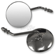 Chrome 4 in. Diameter Universal Stamped Steel Round Mirrors - 20-21794