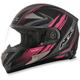 Black/Fuchsia FX-90 Rush Matte Helmet