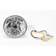 4 1/2 in. Wave-Cut Trilliant Headlight w/Black Dot - T40700