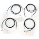 Black Vinyl Coated Stainless Steel Cable and Brake Line Kit For Use with 12-14 Inch Ape Hangers w/ABS - LA-8052KT-13B