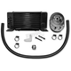 Black 10-Row Horizontal Low-Mount Oil Cooler - 750-2300