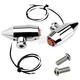 Chrome Vega LED Side Rail Turn Signals w/Amber Lens - 05-57-AC