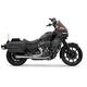 Chrome Short 2-1 Road Rage Exhaust System - 1FXRF