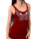 Womens's Heather Red Sparkle Wings Tank