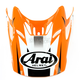 Orange/White/Black Visor for VX-Pro 4 Tip Helmet - 811075