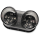 Black Integrated Taillight w/Smoke Lens - MPH-50062B