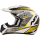 Pearl White/Hi-Vis Yellow FX-17 Factor Helmet