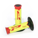 Fluorescent Yellow/Red 788 Extra  Slim Triple Density Grips - 788RDFLYLBK
