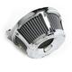 Chrome Slot Track Inverted Series Air Cleaner Kit - 18-922