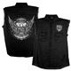 Black Bold Eagle Sleeveless Denim Shirt