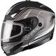 Flat Black/Silver GM54S Terrain Modular Snowmobile Helmet