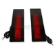 Gloss Black Fillerz LED Saddlebag Support LED Lights w/Red Lens - GEN-FDRS-RED-B
