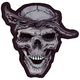 Thug Skull Mini Embroidered Patch - MN32013