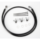 Front Extended Length Black Vinyl Braided Stainless Steel Brake Line Kit +2 in. - 1741-2539