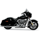 Chrome Long Style High-Performance 2-Into-1 Exhaust System with Heat Shields - 1074S