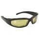 Black Rally Sunglasses w/Yellow Lens - 43022