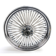 Front Chrome 16 x 3.5 Fat Daddy 50-Spoke Radially Laced Wheel for Dual Disc - 0203-0250