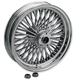 Rear Chrome 16 x 3.5 Fat Daddy 50-Spoke Radially Laced Wheel - 0204-0266