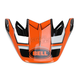 Orange/Black/White Factory Moto-9 Carbon Flex Visor - 7071245