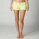 Womens Day Glo Green Outshine Shorts