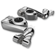Chrome Adjustable Highway Peg Mount w/4 in. Extension and Clevis - 60004