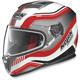 Metallic White/Red N86 Deep Helmet