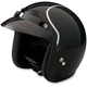 Black/Silver Jimmy Intake Open Face Helmet