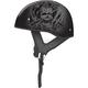 Flat Black/Silver GM65 Naked Tormentor Half Helmet