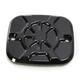Decadent Black Powdercoat Brake Master Cylinder Cover - LA-F550-02B