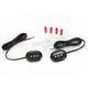 Black Anodized Plugz w/Smoke Lens - GEN-PLUGZ-S-B