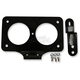 Gloss Black Steel Lay-Down License Plate Mount - 2030-0716