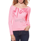 Womens Pink Moto Lover Scoop Sweatshirt