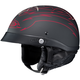 Black/Red CL-IronRoad Showboat MC-1F Helmet