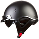 Black/Gray Hard Luck SC3 Half Helmet with Sunshield