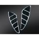 Black/Chrome Knietic Floorboard Inserts w/Toe Rest - 7618