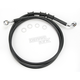 Front Extended Length Black Vinyl Braided Stainless Steel Brake Line Kit +4 in. - 1741-2812