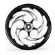 Black 21 x 2.15 Savage Eclipse One-Piece Wheel - 212159047-85E
