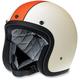 Flat Creme/Orange Racer Bonanza Helmet