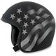 Flat Black Stealth  FX-76 Flag Helmet