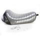 Charcoal Metalflake Pleated Bare Bones LT Series Solo Seat - LK-006BKMFPT
