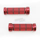 Chrome Red 1 in. Custom Grips - 866CRRD1