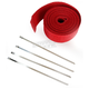 Red 2in. x 25ft. Exhaust Pipe Wrap W/ Silver Tie Wraps - CPP/9068