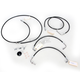 Black Vinyl-Coated Stainless Steel Brake Line Kit For Use With 12-14 Inch Ape Hangers w/ABS - LA-8051B13B